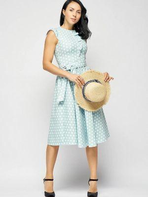 Платье бирюзовый прямое Bellart