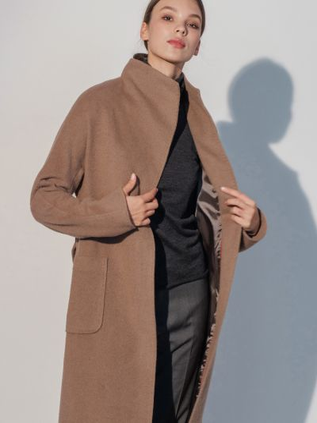 Пальто casual - коричневое Mariolli