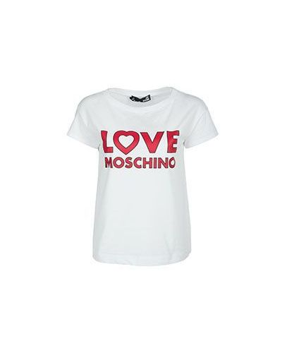 Белая футболка Moschino Love