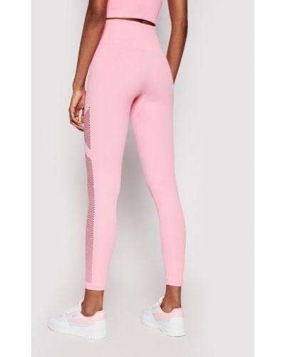 Różowe legginsy sportowe Dkny Sport