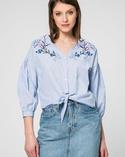 Блузка на пуговицах однотонная Pepe Jeans
