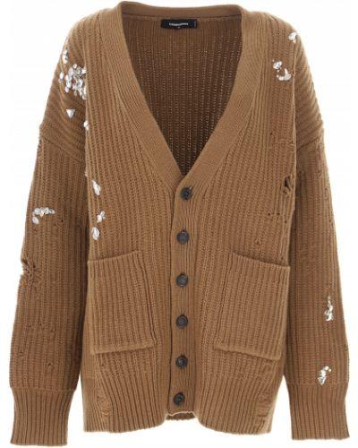 Brązowy sweter zimowy Dsquared