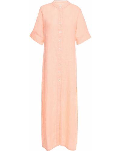Льняное пляжное оранжевое платье миди Onia