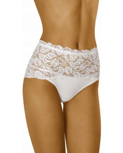 Białe majtki koronkowe Wolbar