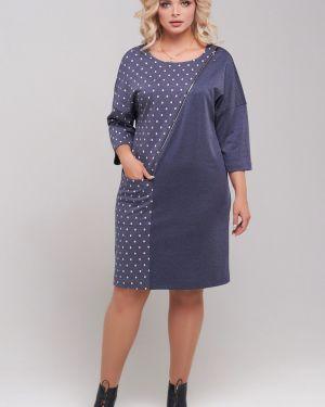 Платье миди в горошек на молнии Mari-line
