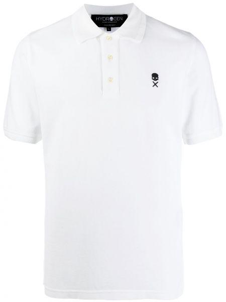 Klasyczna koszula krótki rękaw bawełniana z haftem Hydrogen