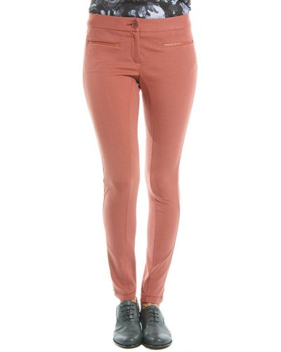 Оранжевые брюки из вискозы Patrizia Pepe