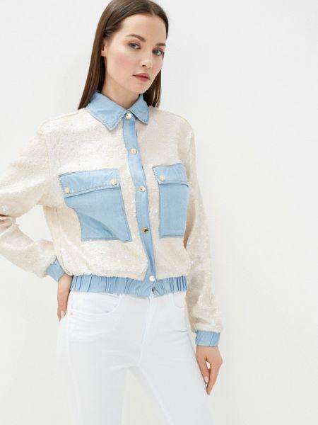 Бежевая джинсовая рубашка с запахом Lança Perfume