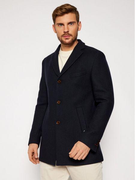Płaszcz wełniany - czarny Cg - Club Of Gents