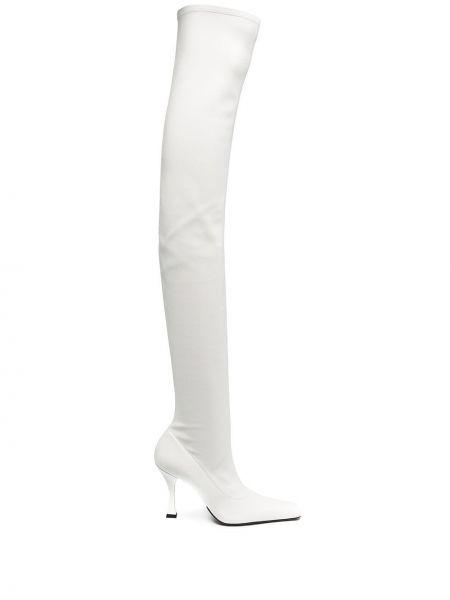 Сапоги на шпильке на каблуке из натуральной кожи на высоком каблуке Proenza Schouler