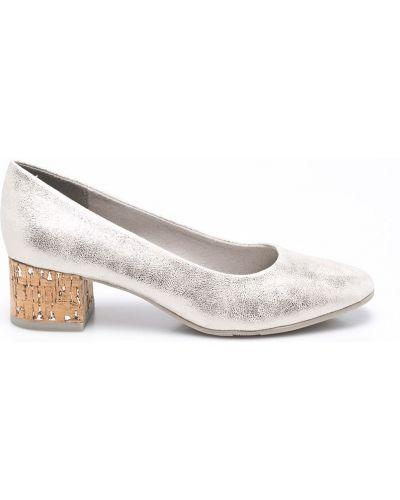 Туфли на каблуке золотые Jana