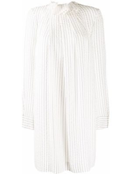 Платье с открытой спиной в полоску Nina Ricci
