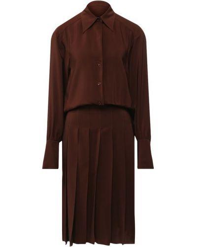 Платье со складками шелковое Chloé