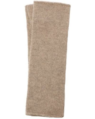 Бежевые шерстяные перчатки Not Shy