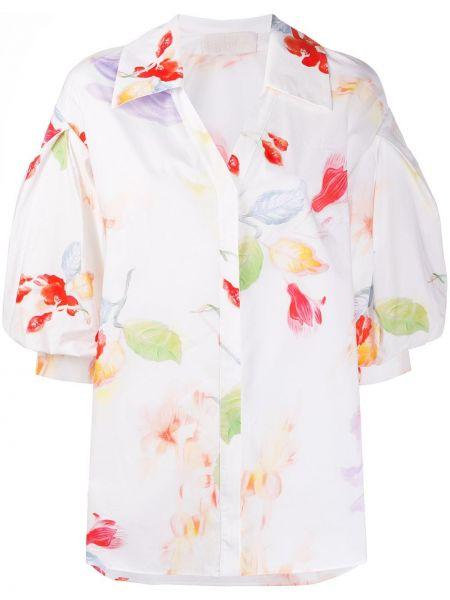 Biała koszula krótki rękaw bawełniana Peter Pilotto