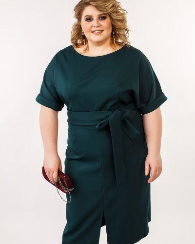 Вечернее платье с V-образным вырезом с поясом Jetti-plus
