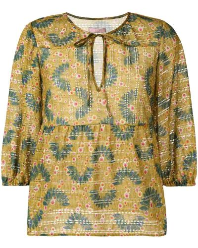 Блузка с рюшами с манжетами Kristina Ti