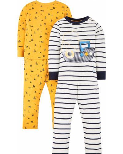 Пижама белая желтый Mothercare
