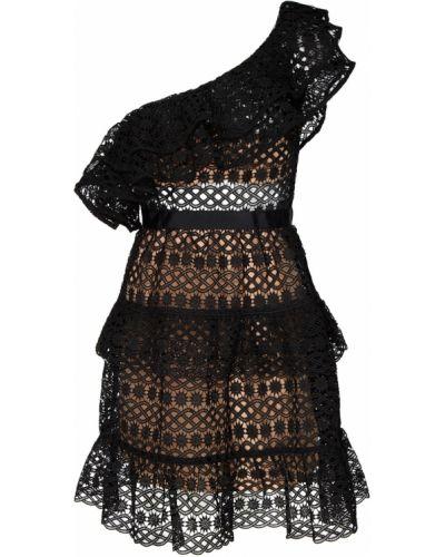 Платье мини на одно плечо расклешенное Self-portrait