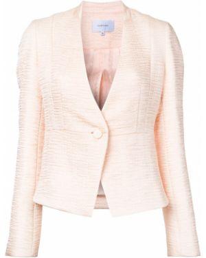 Розовый приталенный пиджак Carven