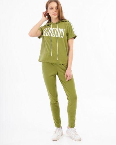Хлопковый домашний зеленый костюм Lena Basco