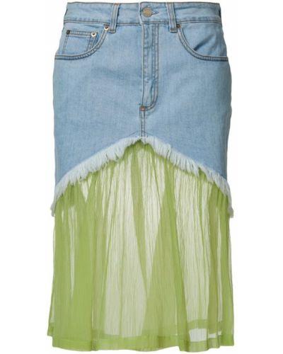 Джинсовая юбка синяя Daizy Shely