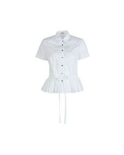 Хлопковая белая рубашка для офиса Van Laack