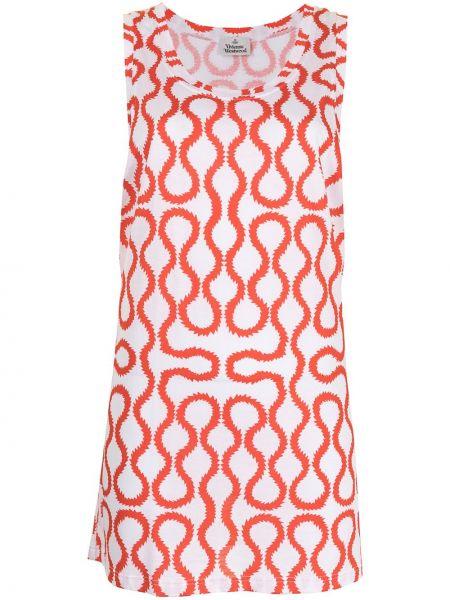Biała kamizelka bez rękawów bawełniana Vivienne Westwood