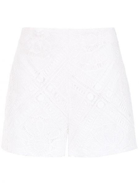 Хлопковые белые шорты со спущенными плечами Martha Medeiros