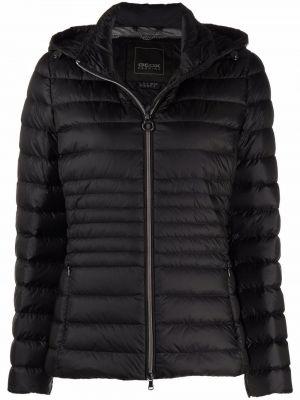 Черная куртка расклешенная Geox