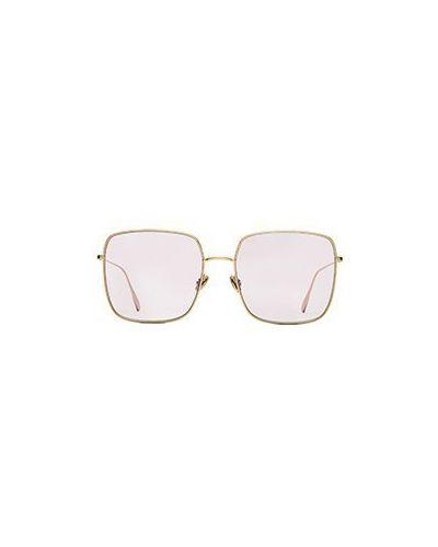 Розовые солнцезащитные очки Dior