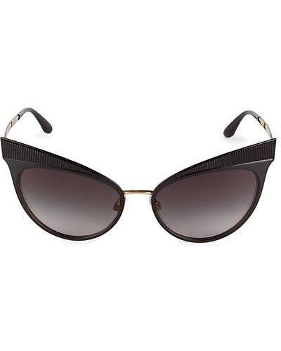 Черные солнцезащитные очки металлические винтажные Dolce & Gabbana