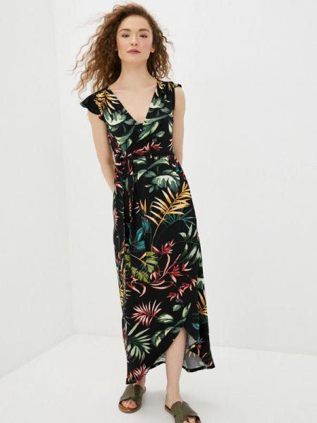 Платье с запахом черное Envie De Fraise