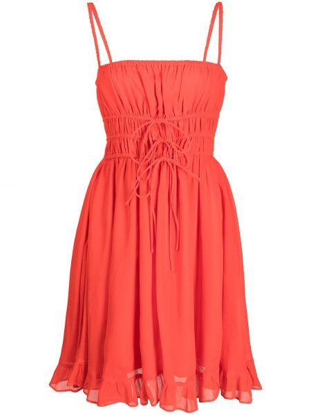 Платье на бретелях - оранжевое Cynthia Rowley