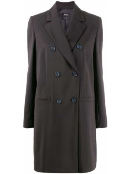 Пиджак черный двубортный A.p.c.