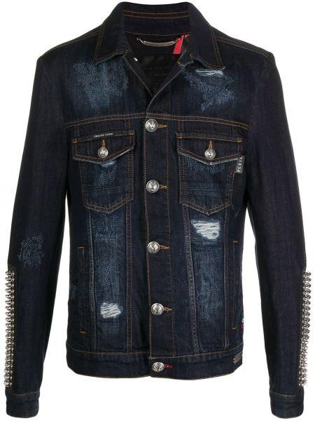 Bawełna bawełna niebieski jeansy Philipp Plein