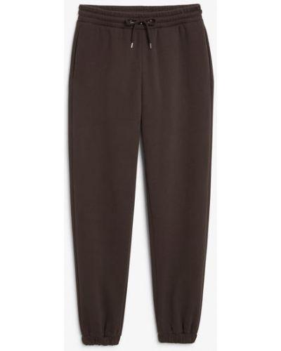 Флисовые спортивные брюки - коричневые Monki