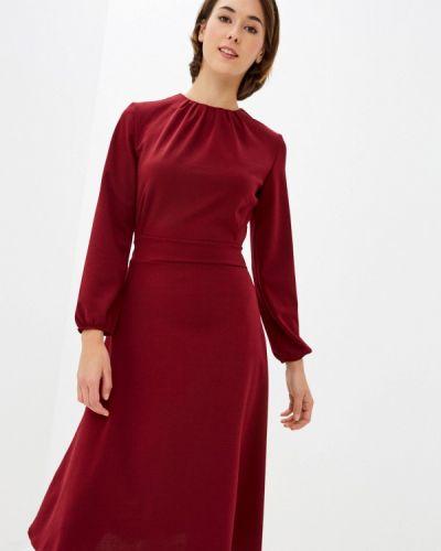 Прямое бордовое платье Froggi