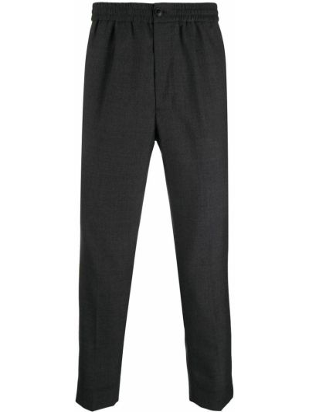 Czarne spodnie bawełniane Ami