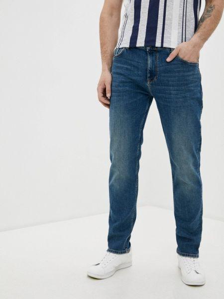 Синие прямые джинсы с жемчугом Colin's