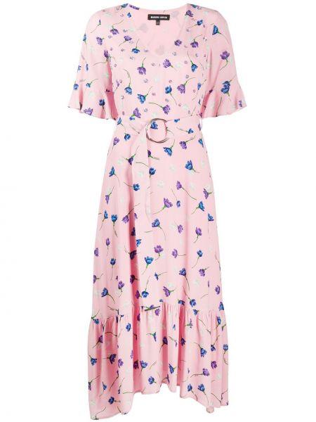 Платье мини с цветочным принтом с V-образным вырезом Markus Lupfer