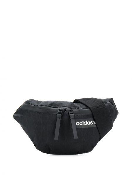 Czarny pasek z paskiem z siateczką Adidas
