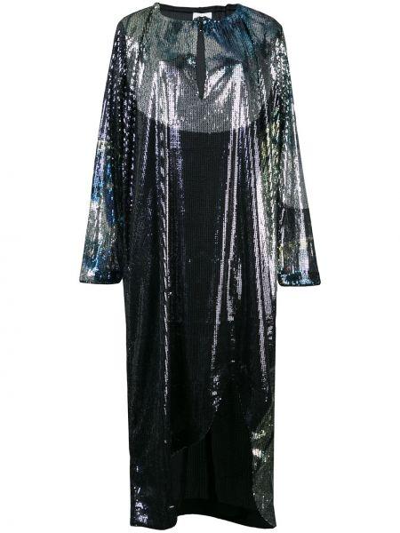 Платье миди с пайетками с вышивкой Ganni