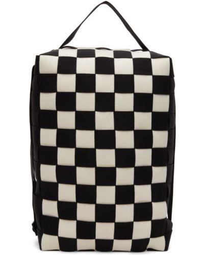 Z paskiem biały włókienniczy plecak na paskach Issey Miyake Men
