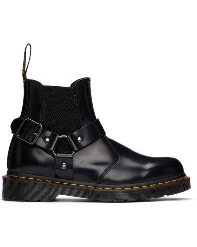 Черные высокие ботинки Dr Martens