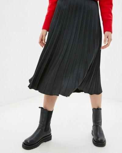 Черная плиссированная юбка Rinascimento