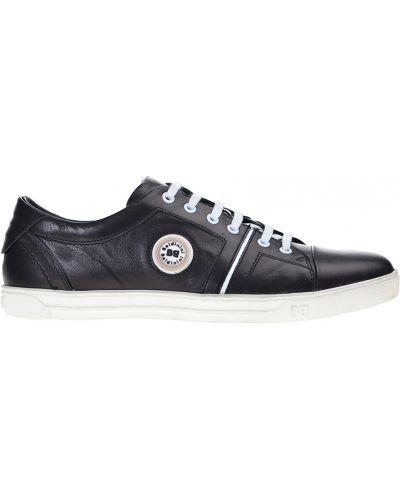 Черные кроссовки резиновые Baldinini