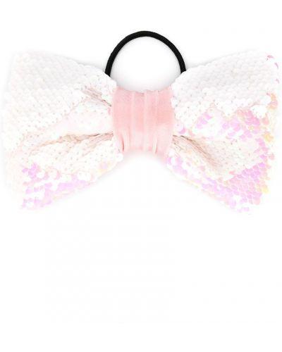 Розовая резинка для волос на резинке с пайетками Wauw Capow