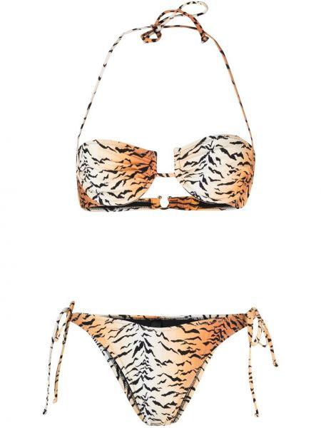 Brązowy bikini z printem Reina Olga