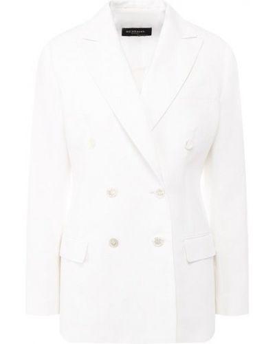 Льняной пиджак - белый Kiton